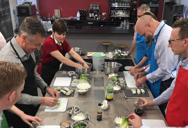 Image of JD Williams team building at Food Sorcery cookery school Didsbury Manchester
