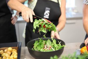 Image of salad being made at Food Sorcery Nutrition Class Didsbury