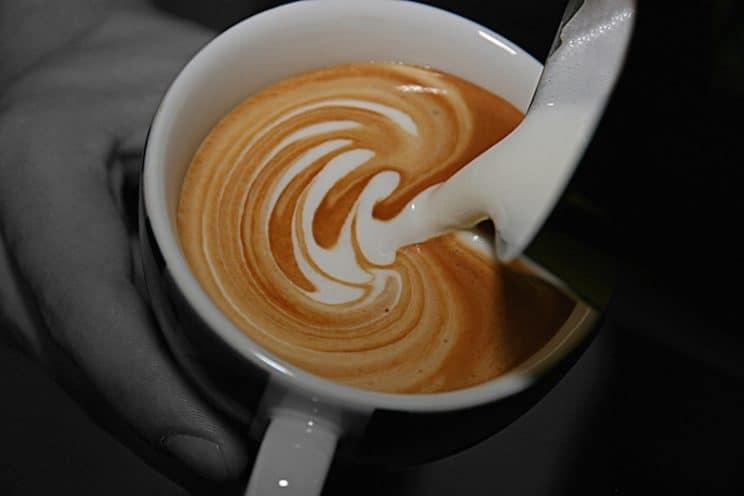 Image of Latte Art prepared at Food Sorcery Cookery School Didsbury