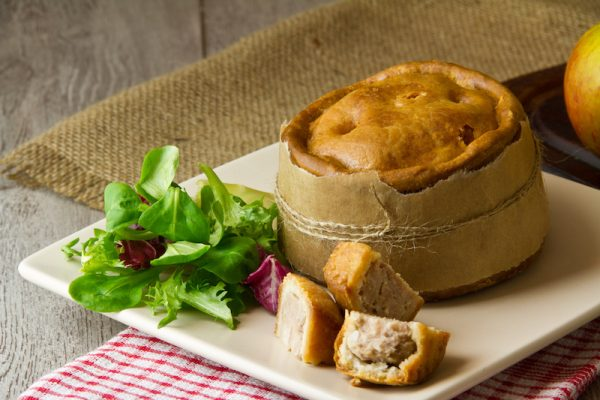 Image of pork pie made at Food Sorcery cookery school didsbury
