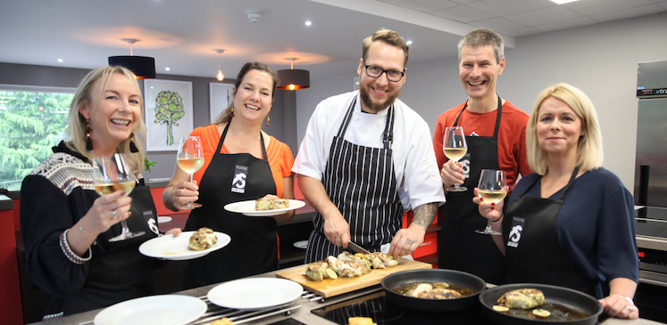 You are currently viewing Cooking Together with Jason Palin – Prawn Fritters, Patatas Bravas & Garlic Chicken Pinchos