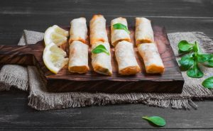 image of vietnamese spring rolls at the cookery school