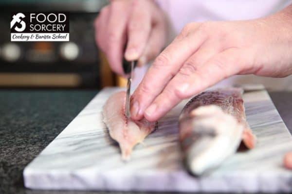 Image of filleting fish at Food Sorcery Didsbury