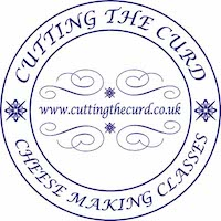 IMAFE OF LOGO FOR Cutting the curd at Food Sorcery cookery school cheese making Didsbury Manchester
