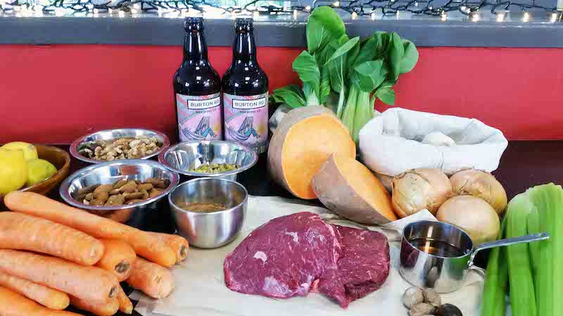 Image of ingredients for Manchester Meal at Food Sorcery cookery and barista school didsbury manchester