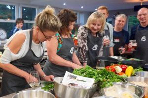 image of Cooking Together Party at Food Sorcery Didsbury Manchester private dining for 24 people