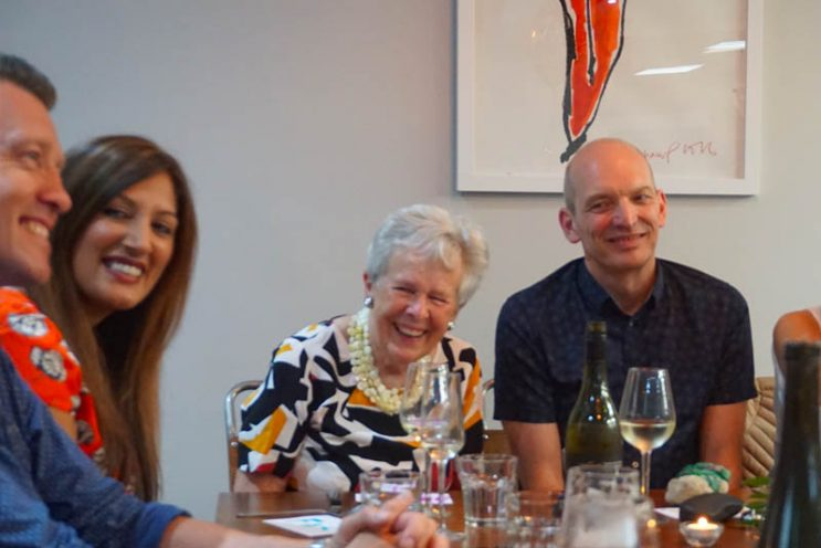 image of guests enjoying Cooking Together fun at Food Sorcery private dining for 24 people