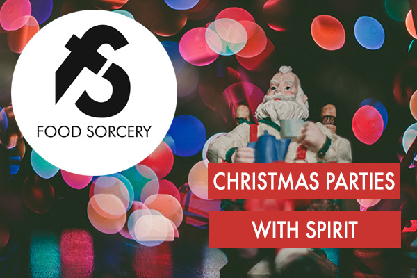 IMAGE OF CHIRSTMAS PARTIES WITH SPIRTIT AT FOOD SORCERY