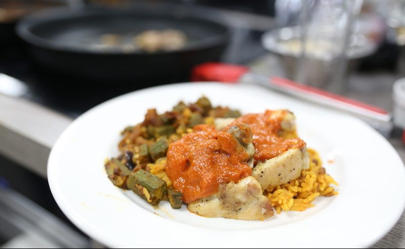 Jamaican Run Down with Spicy Stewed Okra – Recipe