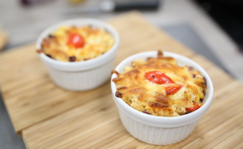 Image of Baked Yams corn and cheese how to make at Food Sorcery Cookery School Georgie Glass Blogger