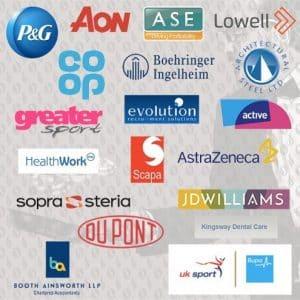 image of corporate team building cleints logos