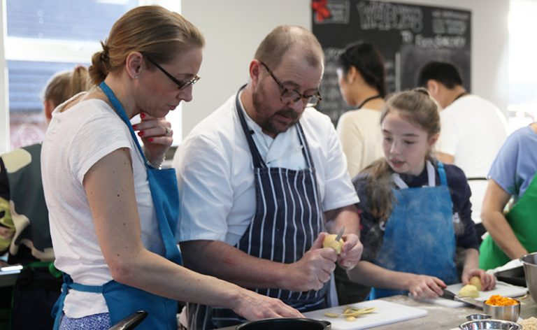 image of parents & Child cookery class Big & Little Cooks at Food Sorcery Vegan and vegetarian options