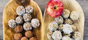 image of energy balls made for Quorn snacks at Food Sorcery Vegan and vegetarian for healthy eating