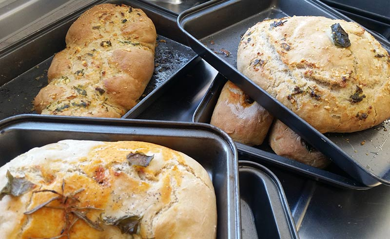 image of bread baked at kid cookery camp Didsbury Manchester