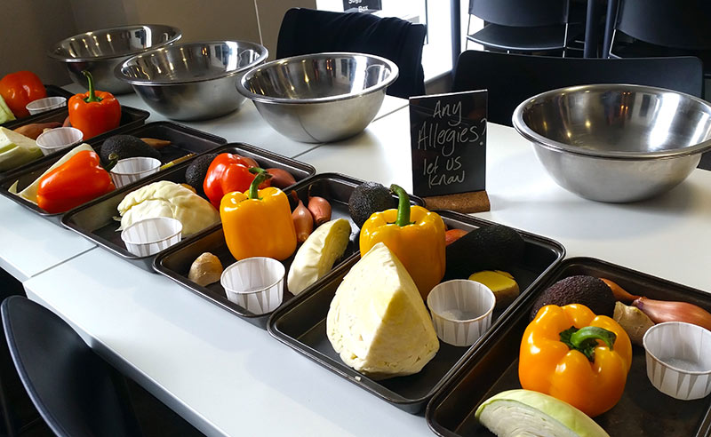 image of workplace wellness at Food Sorcery and UK Sport Bupa ingredients