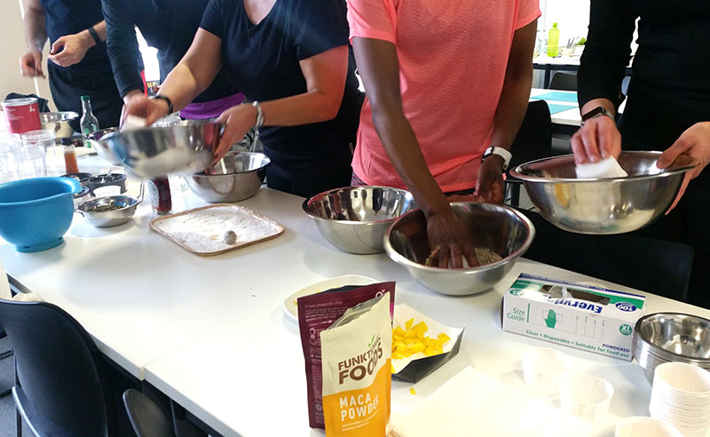 image of workplace wellness and bupa Uk sport Food Sorcery protein balls