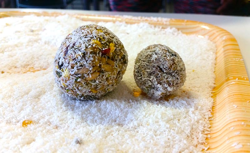image of workplace wellness UK sport bupa and food sorcery protein balls made