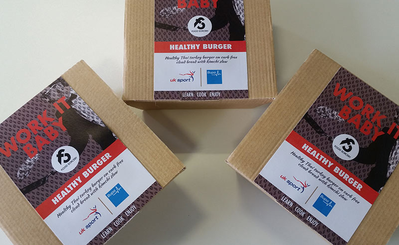 image of healthy burger boxes at Food Sorcery Workplace wellness