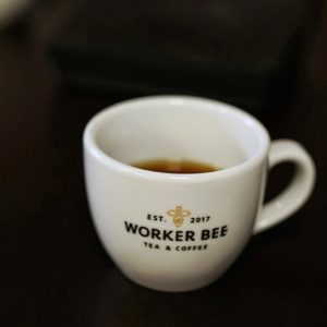 image of espresso worker bee coffee I love manchester and Forever Manchester charities at Food Sorcery 100 club
