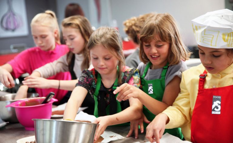 image of young chefs at Food Sorcery cookery school camp Didsbury Manchester
