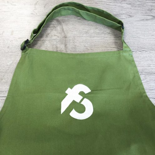 image of cotton apron for sale at Food Sorcery Olive