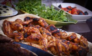 Paleo, Baked Buffalo Chicken Wings with Blue Cheese Dressing
