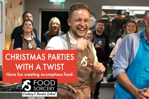 Image of laughing at Christmas party at Food Sorcery for small groups