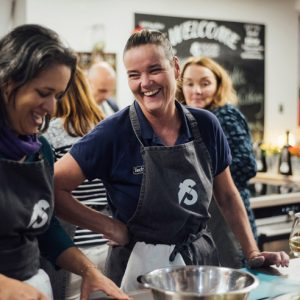 Image of Fit Food Class ladies laughing at Food Sorcery, Didsbury