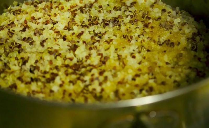 Image of Quinoa in saucepan at Food Sorcery, Didsbury