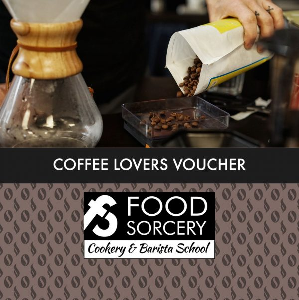 image of coffee Lovers gift voucher Barista class at Cookery school Manchester