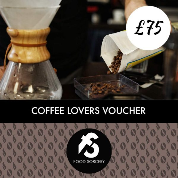 image of coffee lovers gift voucher at food sorcery