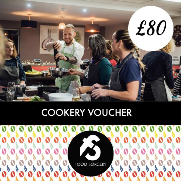 image of 80 pound cookery gift vouchers at food sorcery didsbury manchester