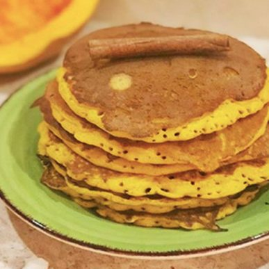Image of Fit Food Class protein pumpkin pancakes at Food Sorcery, Didsbury