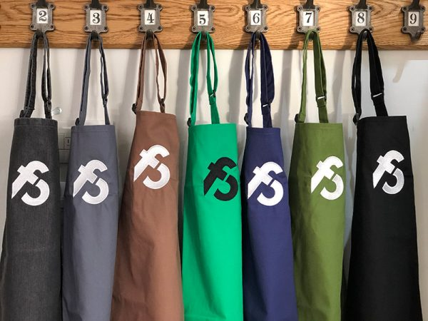 image of cookery school aprons at Food Sorcery Didsbury Manchester