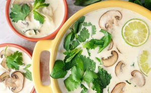 Thai Coconut Soup with Turkey Meatballs