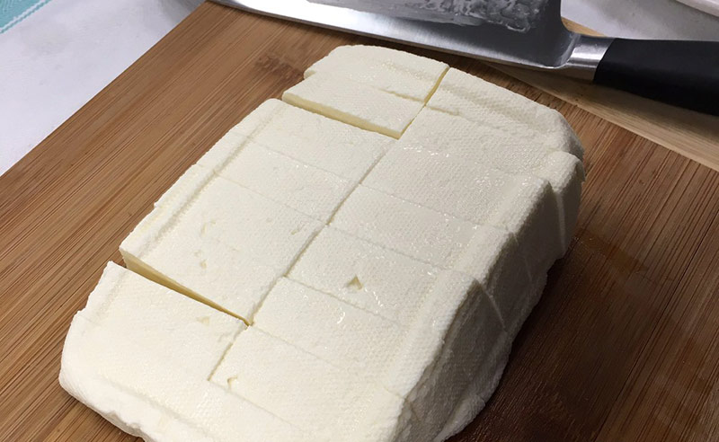 image of homemade Halloumi cheese at Food Sorcery cookery school Didsbury things to do in Manchester