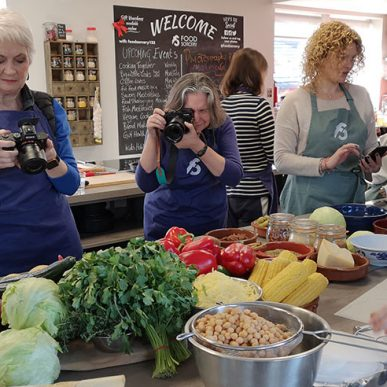 image of food photography class at food sorcery cookery school didsbury manchester