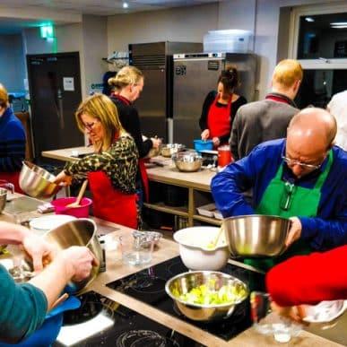 Art of Kimchi class making kimchi at Food Sorcery, Didsbury