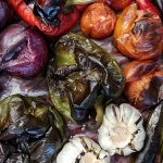 image of roast vegetables for vegan and vegetarian class at cookery school