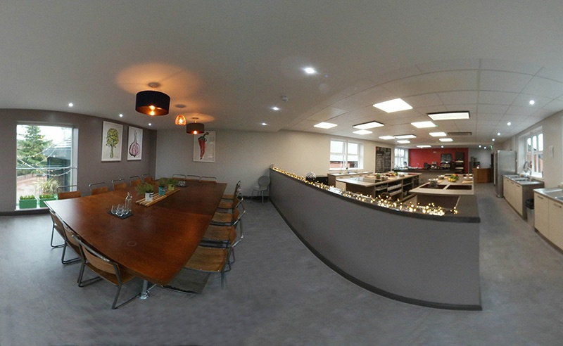 image of 360 space of Food Sorcery cookery school venue hire manchester