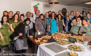 image of whole group at Food Sorcery prevent breast cancer masterchef invention test