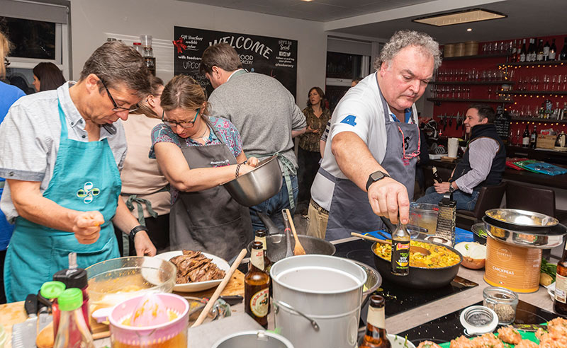 image of messy cooking at Food Sorcery prevent breast cancer masterchef invention test
