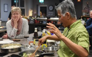 image of teaching Chochaba Harper Thai Chef cookery class things to do manchester