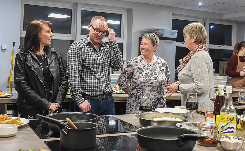 image of guests at chef table Chochaba Harper Thai Chef cookery class things to do manchester