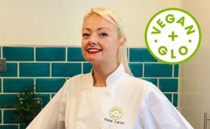 image of Fiona Carter from Vwgan and glo delivering cookery classes at Food Sorcery
