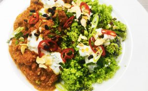 image of Healthy eating cookery class broccoli rice