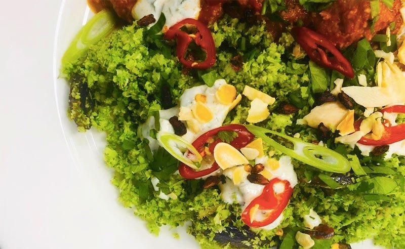 Broccoli Rice with Lemon and Cumin