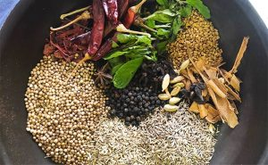 image of Sri Lankan spices rady for cookery class at cookery school Didsbury