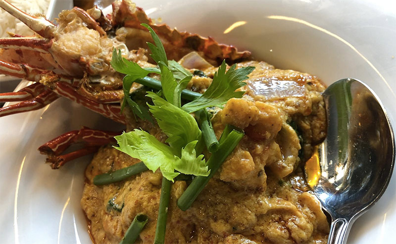 image of Sri Lankan food Lobster at cookery school research for cookery class