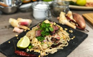 image of Beef noodles made at a cookery class at the cookery school